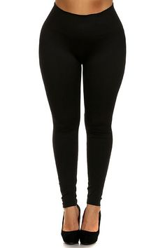 Premium High Waisted Seamless Plus Size Leggings | OnlyLeggings.com - Leggings Superstore