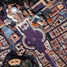 Easter Sunday at St. Peter's Basilica in Vatican City, Rome, Italy - photo by dailyoverview  (3/27/16);  St. Peter's Basilica is crowded with 150,000 worshippers.  It is considered one of the holiest Catholic sites.  Construction of the church began in 1506 and was completed in 1626.
