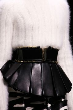 Balmain | Fall 2014 Ready-to-Wear Collection | Style.com leather fur white