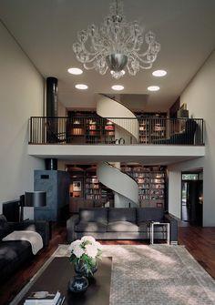 Penthouse, loft, open space, espace ouvert, apartment, style, vintage, light, luminaire