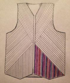 Тихая комната: Придумать и сшить жилетку из лоскутов.