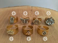 Gypsy Rings Gold and Silver Rings Boho Style by WILDSOUL19