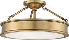 Semi Flush Lighting, Semi Flush Ceiling Lights, Flush Mount Ceiling, Gold Ceiling Light, Ceiling Light Fixtures, Ceiling Lighting, Hallway Lighting, Ceiling Fans, Bedroom Lighting
