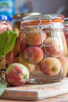 Marynowane jabłka do mięs - przepisy.net Homemade Liquor, Appetisers, Summer Recipes, Preserves, Appetizer Recipes, Pickles, Food And Drink, Herbs, Canning