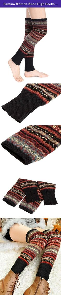 """Santwo Women Knee High Socks Winter Bohemian Boot Cuffs Knit Crochet Leg Warmers (black). Welcome to Santwo Amazon Network Store. Product Features: 1.Material:Knitting Wool,30% wool+70% acrylic,100% new brand and high quality. 2.One size fit most.Length 19.7""""*8.7""""-11.8""""circumference unstretched cuff. 3.Consumer groups:young girls,women.Very warm and fashionable to wear,protect your legs well. 4.Package Content:1*Pair Leg Warmers.Slim fit type.Hand wash and lay flat to dry.A great…"""