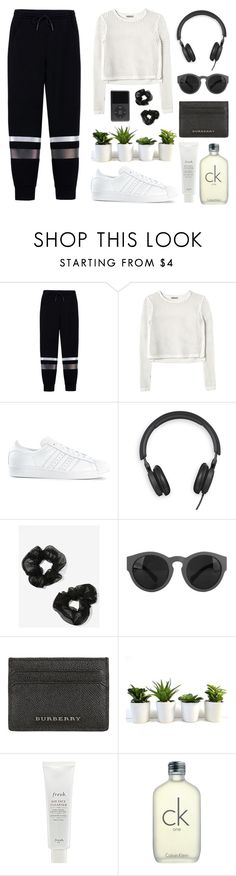 """""""casual"""" by annasophierose ❤ liked on Polyvore featuring T By Alexander Wang, Rebecca Taylor, adidas, Bang & Olufsen, NOVA, Burberry, Fresh and CK One"""