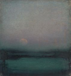 chasingtailfeathers: John Felsing The Moon Hangs Like Heaven Oil on linen, 23 x 22 inches