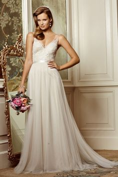 $1348 at Wedding Shoppe Wtoo Brides Persiphone Gown 13614  Love the shape, back, and shear sleeves. Really want to try this dress.