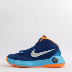 45c3c6a32089 Nike KD Trey 5 III Mens Basketball Trainers Shoes Sneakers Blue Silver  Nike  Mens