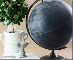 So many cool things to do with old globes!  (Digging out one from my stash of treasures to try out this.)
