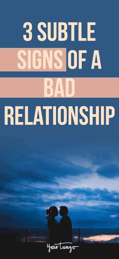 Here are three signs of a bad #relationship