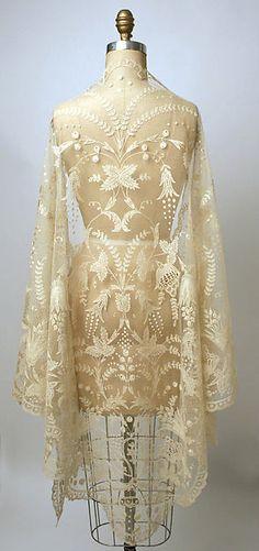 Shawl Date: 19th century Culture: Philippine Medium: piña cloth, cotton