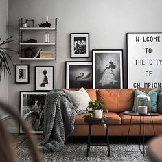 Always great styling by @scandinavianhomes with the classic 'Welcome to the City of Champions' by Playtype and mixed art. Photo by @kronfoto #theposterclub #playtype #interior #decor #homestyling #interiordesign