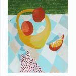"""""""Fruit"""" by Nancy B. Westfall, 15"""" by 20"""" acrylic on board, $128   Gregg Irby Fine Art"""