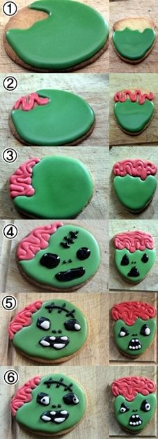 How to make - Zombie cookies for Halloween