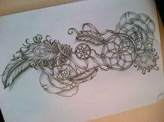 dreamcatcher_tattoo_design__attrappe_reve__by_tattoosuzette-d7eoq1i.jpg (526×394)