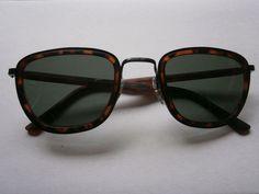 1 bräunliche Sonnenbrille Retro Hippie Goa Brille Nerdbrille 50s 60s Vintage 2