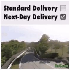 What happens when you pick next day delivery for online purchases