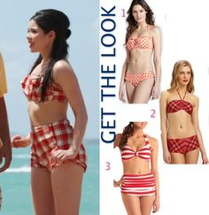 Teen Beach Movie 2 pice high waisted bikini (Get the look) 3 looks