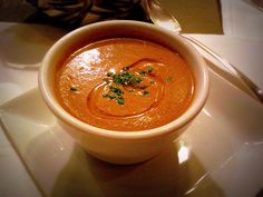 The Chef's Corner at Wood Tavern (Oakland, CA): Roasted Mushroom Soup with Truffle Oil and Chives