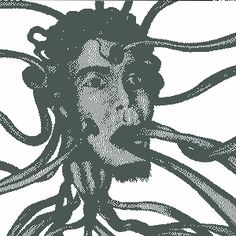 Self tentacle portrait (animated gif). Just click on the image and....lol