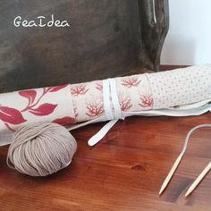 Portaferri da maglia color Rubino di GeaIdea su Etsy