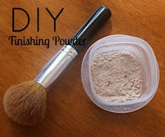 How to make your own finishing powder with only 3 ingredients. Make any shade you need! Going to do this for a bronzer since I can never find a good bronzer without a ton a sparkle.