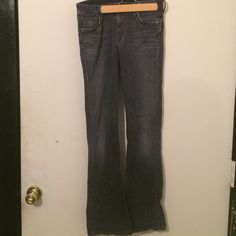 JUST IN  Citizens of Humanity Jeans EUC Citizens of Humanity Jeans 90% cotton 4% elastane 6%elastane tested (I have no idea what that means but the label says it) pre washed, some slight wear edge back pockets no wear belt line or pants bottom no rips tears these fitted to knee,  boot cut they are 28 I'm 24- 25 got when pregnant but soon grew out Citizens of Humanity Jeans Boot Cut