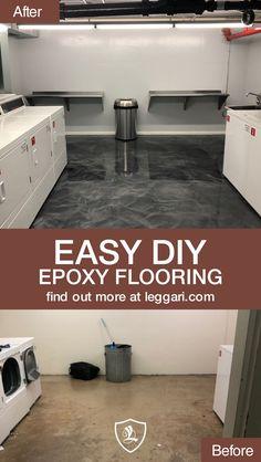 Epoxy floors, do-it-yourself project. DIY Epoxy Countertops and Floors with Legg. - Epoxy floors, do-it-yourself project. DIY Epoxy Countertops and Floors with Leggari P … - Epoxy Floor Diy, Epoxy Concrete Floor, Epoxy Floor Basement, Garage Epoxy, Metallic Epoxy Floor, Diy Epoxy, Epoxy Resin Flooring, Home Design, Interior Design