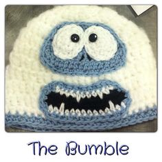 Crochet~ Abominable Snowman from Rudolf- Hat - Free Pattern