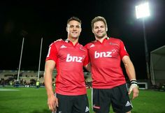 The end of an era. The Crusaders beat the Brumbies to give Dan Carter and Richie McCaw a great send-off. Richie Mccaw, Dan Carter, End Of An Era, All Blacks, Crusaders, Rugby, Sports, Tops, Fashion