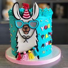 ۰❀۰ Cake.Art ۰❀۰ - Catering - # ۰۰ - Torten - ۰❀۰ Cake.Art ۰❀۰ – Catering – # ۰۰ – Torten – Buttercream Cake, Fondant Cakes, Cupcake Cakes, Pretty Cakes, Cute Cakes, Glow Cake, Llama Birthday, Birthday Cake, Animal Cakes