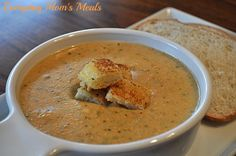 ~Tea Room Broccoli & Cheese Soup~ This creamy and delicious soup is simple yet elegant. Plus, it's a Crock Pot creation, making it even easier!