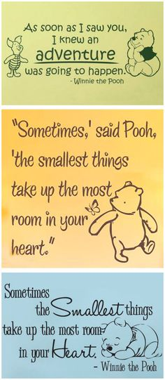 Winnie the Pooh Nursery Wall Decals | #cute #baby #room