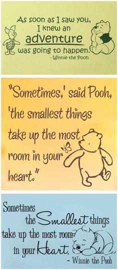 Winnie the Pooh Nursery Wall Decals | #cute #baby #room