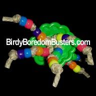 Beaded Button Foot Toy for Parrots