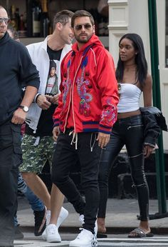 Scott Disick Seen In NYC Wearing Gucci Jacket, Balenciaga Hoodie And Comme Des Garçons X Nike Sneakers