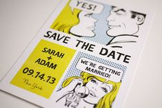 Funny Comic Save the Date by 3EggsDesign via Etsy.com. #savethedates #funnysavethedates