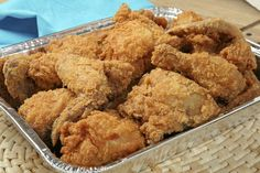 Breaded chicken drumsticks.