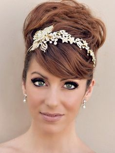 Rhinestone Flower Headband ~ Serena - Bridal Hair Accessories, Wedding Headpieces, Bridal, Wedding, Hair Accessories, Headpieces, Combs, Clips, Hair Pins, Flowers, Headbands, Tiaras, Jewelry, Vintage, Beach - Hair Comes the Bride.