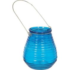 Caribbean Blue Candle Holder 4in - Party City