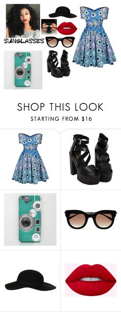 """""""ooo"""" by hsrmonybarbie ❤ liked on Polyvore featuring Thierry Lasry, Topshop and vintage"""