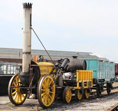 Stephenson's Rocket is often credited as the world's first modern steam locomotive, built in Today, it is preserved at London's Science Museum. Train Car, Train Rides, Steam Trains Uk, Old Trains, Lego Trains, National Railway Museum, Rail Transport, British Rail, Steam Engine