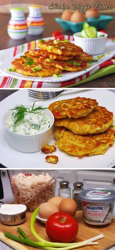 Chicken Veggie Fritters! #Rotisserie #Easy #Breakfast #Lunch #Dinner #Kids #Yummy