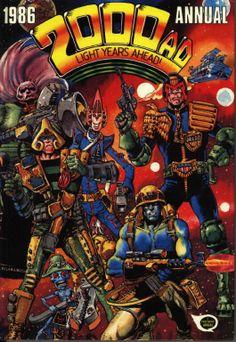 Cover for 2000 AD Annual (Fleetway Publications, 1978 series) Comic Book Covers, Comic Books, Judge Dread, Abc Warriors, 2000ad Comic, Sci Fi Comics, Ad Art, Comic Character, Retro