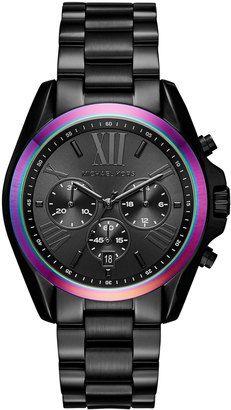 MICHAEL Michael Kors 40mm Jet Set Chronograph Bracelet Watch Black #watches #womens