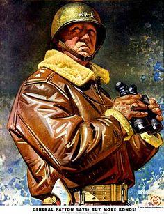 J. C. Leyendecker - General Patton for Timmkin Roller Bearings (1944)