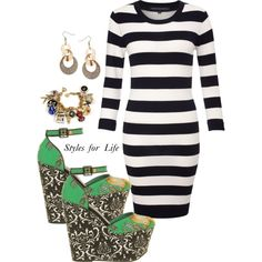 Pairing prints and stripes
