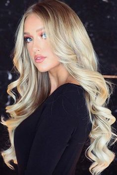 Trendy Hair Color : Long Platinum Creamy Blonde Hair ❤️ Platinum blonde hair is the … Creamy Blonde, Blonde Hair Looks, Going Blonde, Hair Shades, Platinum Blonde Hair, Blonde Balayage, Gorgeous Hair, Curly Hair Styles, Hair Beauty