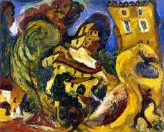 The Athenaeum - Landscape at Cagnes (Chaim Soutine - ) Abstract Landscape, Landscape Paintings, Landscapes, Gouache, Chaim Soutine, Classic Paintings, Jewish Art, Sculpture, Gravure